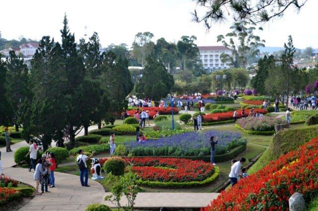 Vườn hoa Đà Lạt một địa danh du lịch Tây Nguyên (Ảnh ST)