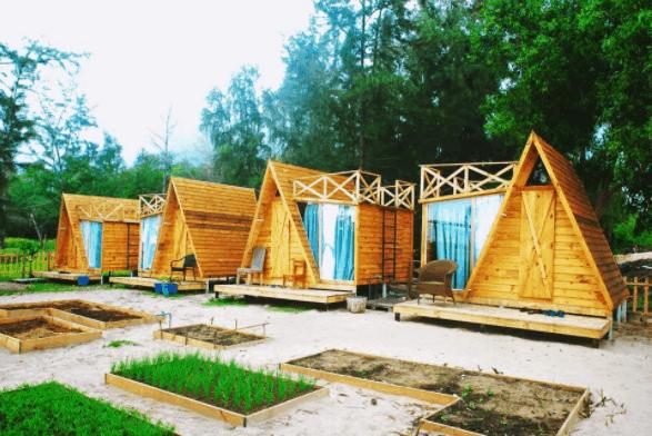 Những căn nhà gỗ hình chữ A
