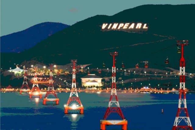 Cáp treo vượt biển dài nhất thế giới ở Vinpearl Land Nha Trang (Ảnh ST)