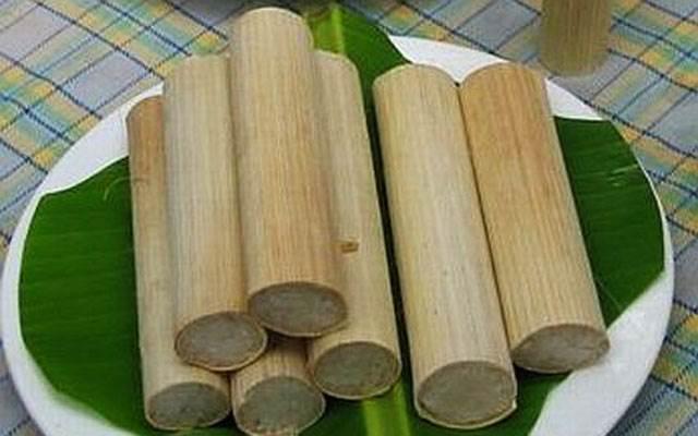 Cơm lam là một món đặc sản không thể thiếu của núi rừng Tây nguyên (Ảnh ST)