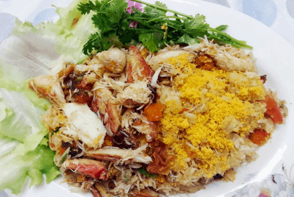 Hấp dẫn với món cơm ghẹ Phú Quốc