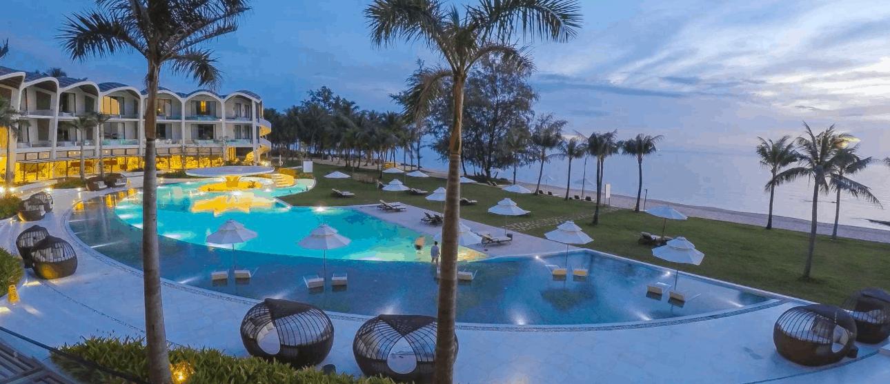 Không gian The Shells Resort & Spa Phu Quoc về đêm