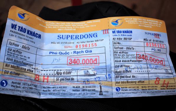 Vé tàu đi Phú Quốc của hãng SuperDong