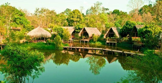 Cảnh đẹp ở buôn Ako Dhong (ẢNH ST)