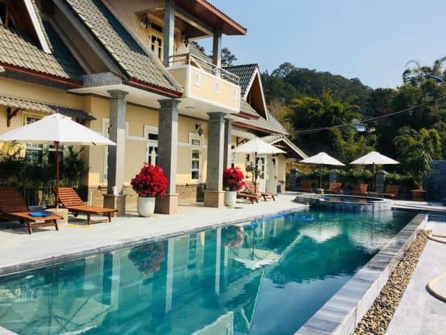 Resort được tích hợp hồ bơi rất đẹp (Ảnh ST)