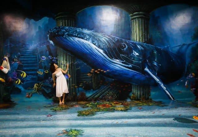 Hóa thân thành nàng tiên cá trong khu Đai dương