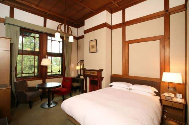 phòng ngủ tại khách sạn Nara Nhật Bản