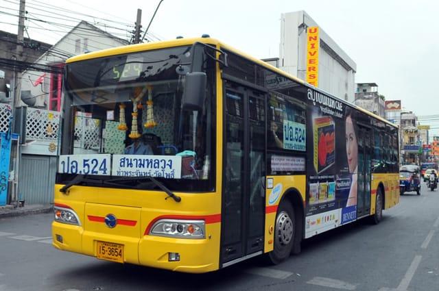 Giá xe bus tại Thái Lan khá rẻ (Ảnh ST)