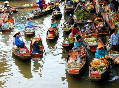 Miệt vườn Cái Bè là nguồn cung cấp hoa quả dồi dào cho chợ nổi