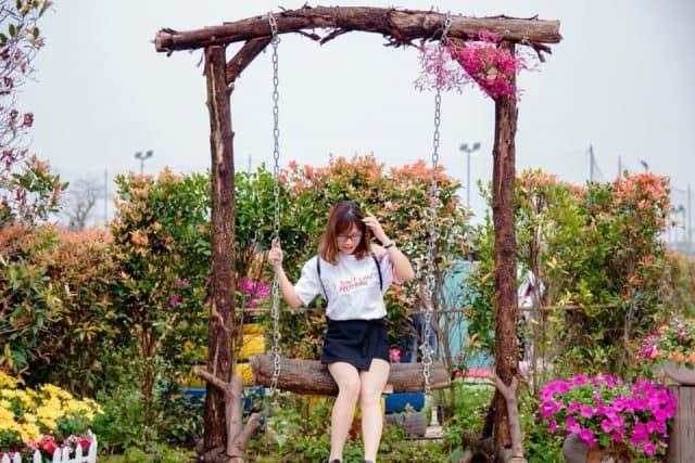 công viên hoa hồng rose part ở Long Biên