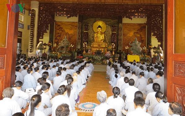 Ngôi chùa chưa bao giờ vắng bóng các Tăng ni Phật Tử - ngay cả trong giai đoạn xây dựng (Ảnh: sưu tầm)